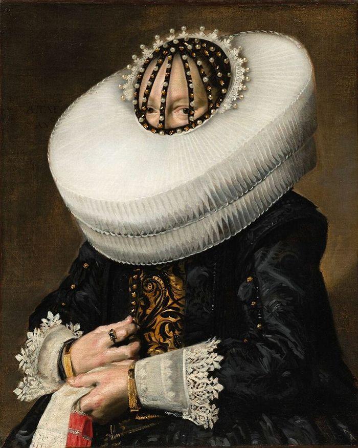 Artista coloca máscaras em pinturas clássicas, e o Instagram está adorando 3