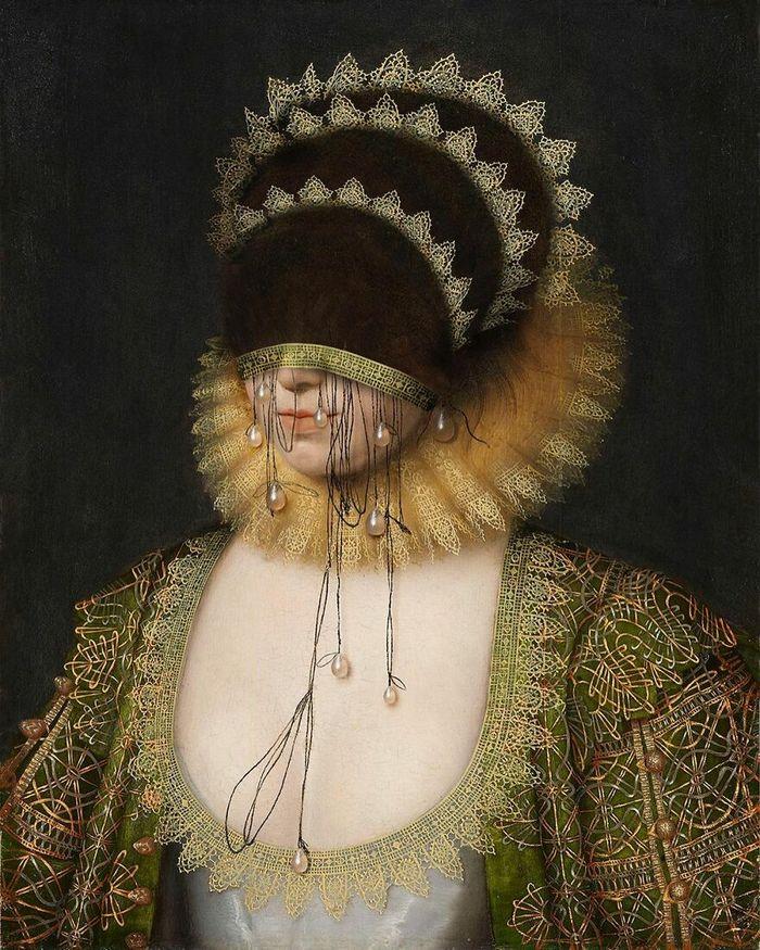 Artista coloca máscaras em pinturas clássicas, e o Instagram está adorando 5