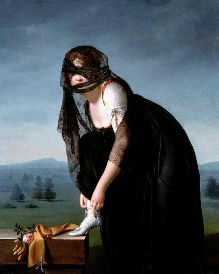 Artista coloca máscaras em pinturas clássicas, e o Instagram está adorando 10