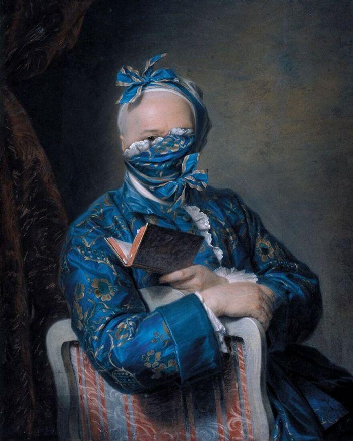 Artista coloca máscaras em pinturas clássicas, e o Instagram está adorando 11