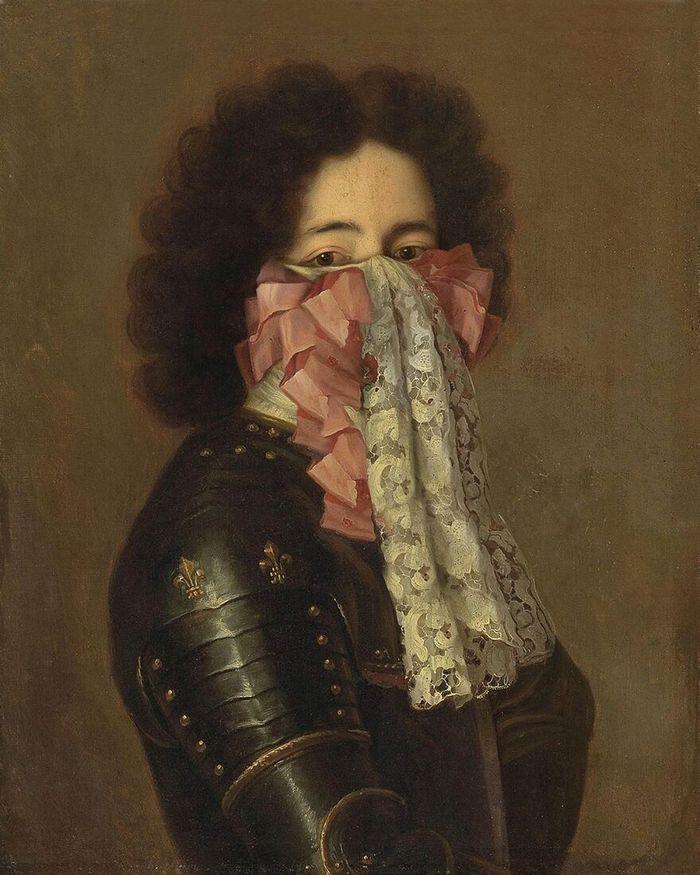 Artista coloca máscaras em pinturas clássicas, e o Instagram está adorando 14