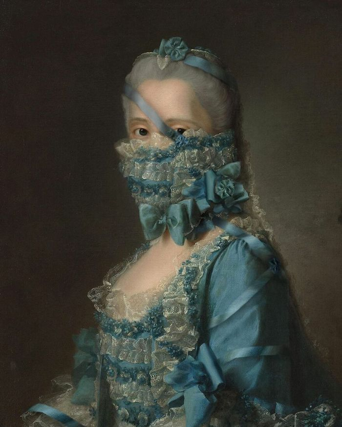 Artista coloca máscaras em pinturas clássicas, e o Instagram está adorando 15