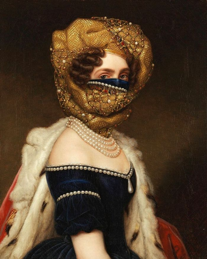 Artista coloca máscaras em pinturas clássicas, e o Instagram está adorando 18