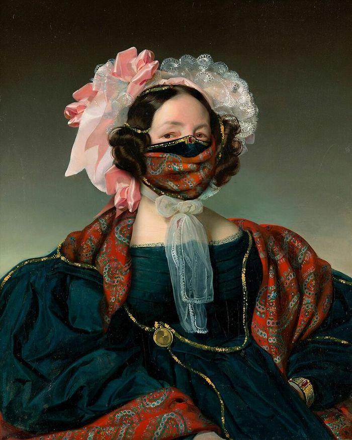 Artista coloca máscaras em pinturas clássicas, e o Instagram está adorando 19