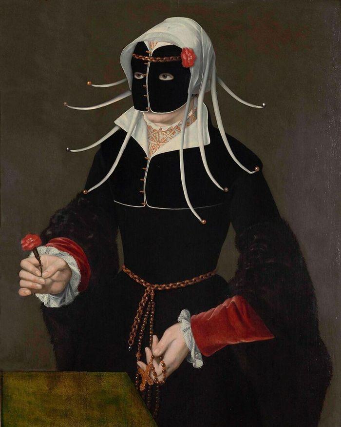Artista coloca máscaras em pinturas clássicas, e o Instagram está adorando 24