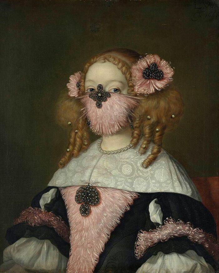 Artista coloca máscaras em pinturas clássicas, e o Instagram está adorando 25