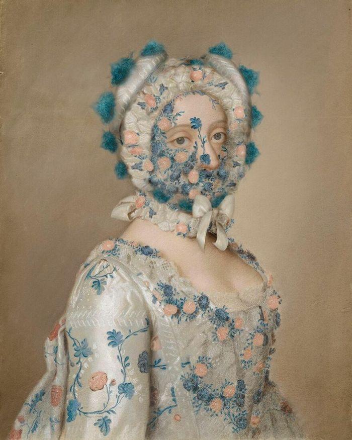 Artista coloca máscaras em pinturas clássicas, e o Instagram está adorando 26