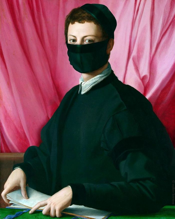 Artista coloca máscaras em pinturas clássicas, e o Instagram está adorando 34