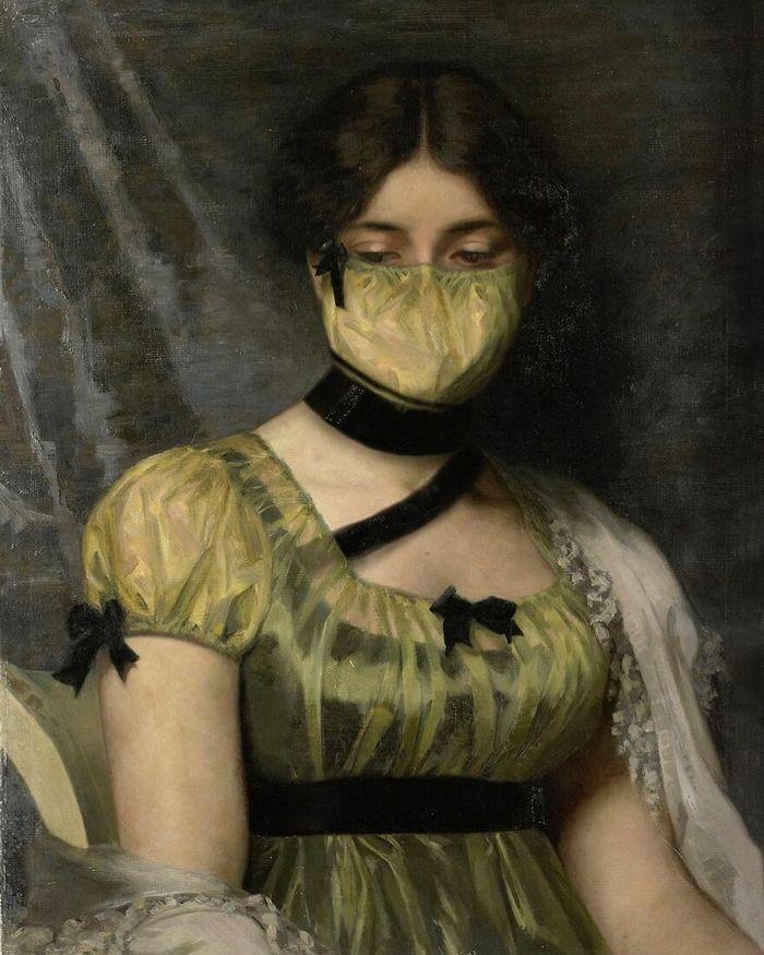 Artista coloca máscaras em pinturas clássicas, e o Instagram está adorando 37