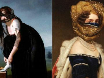 Artista coloca máscaras em pinturas clássicas, e o Instagram está adorando 29