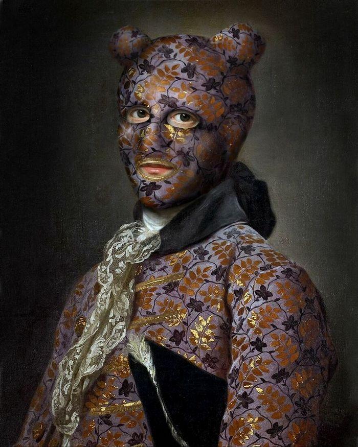 Artista coloca máscaras em pinturas clássicas, e o Instagram está adorando 39