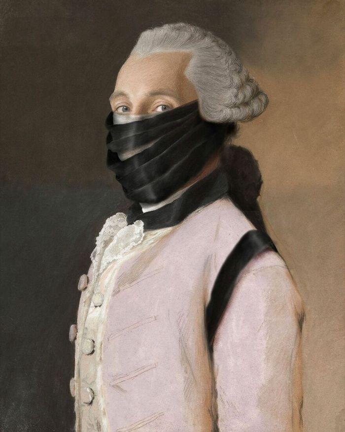 Artista coloca máscaras em pinturas clássicas, e o Instagram está adorando 43