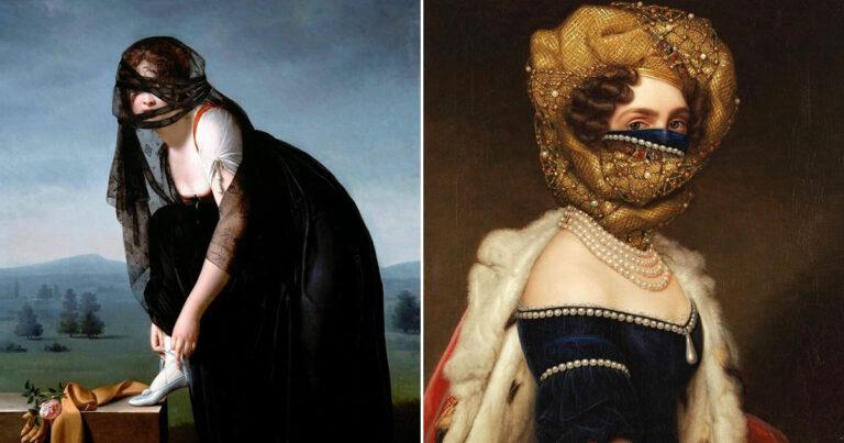 Artista coloca máscaras em pinturas clássicas, e o Instagram está adorando 1