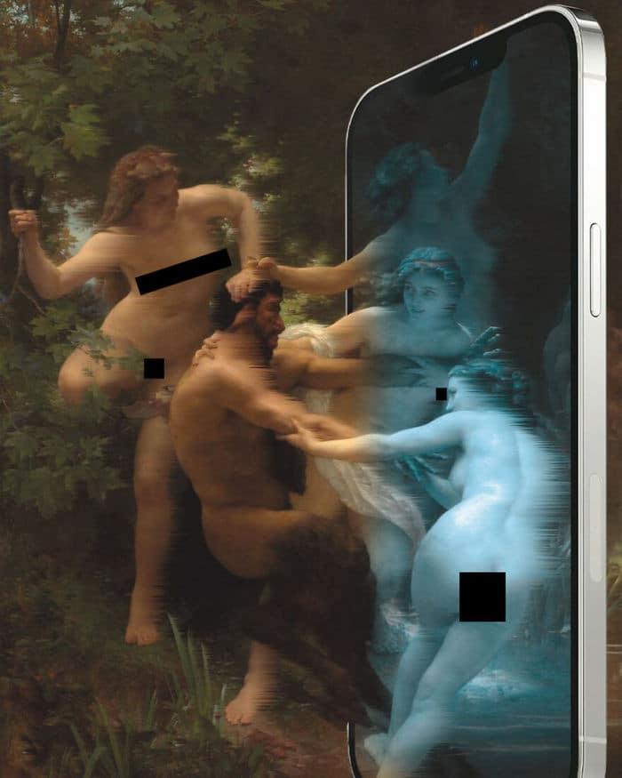 Artista digital reimagina pinturas famosas no contexto atual da tecnologia e mídia social 5