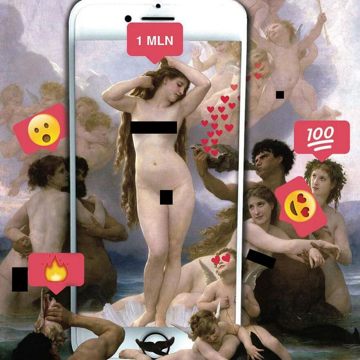 Artista digital reimagina pinturas famosas no contexto atual da tecnologia e mídia social 6