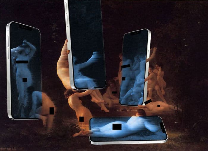 Artista digital reimagina pinturas famosas no contexto atual da tecnologia e mídia social 10