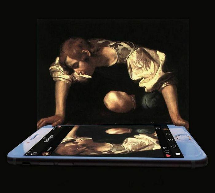 Artista digital reimagina pinturas famosas no contexto atual da tecnologia e mídia social 11