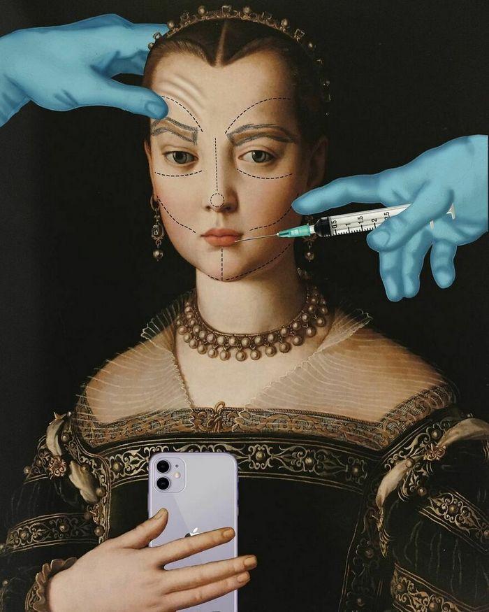 Artista digital reimagina pinturas famosas no contexto atual da tecnologia e mídia social 12
