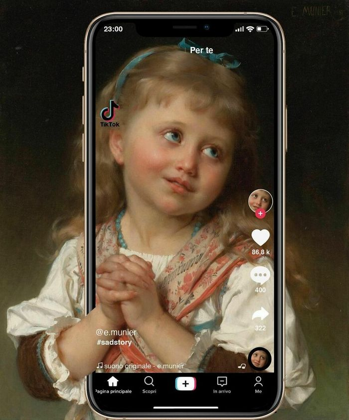 Artista digital reimagina pinturas famosas no contexto atual da tecnologia e mídia social 22