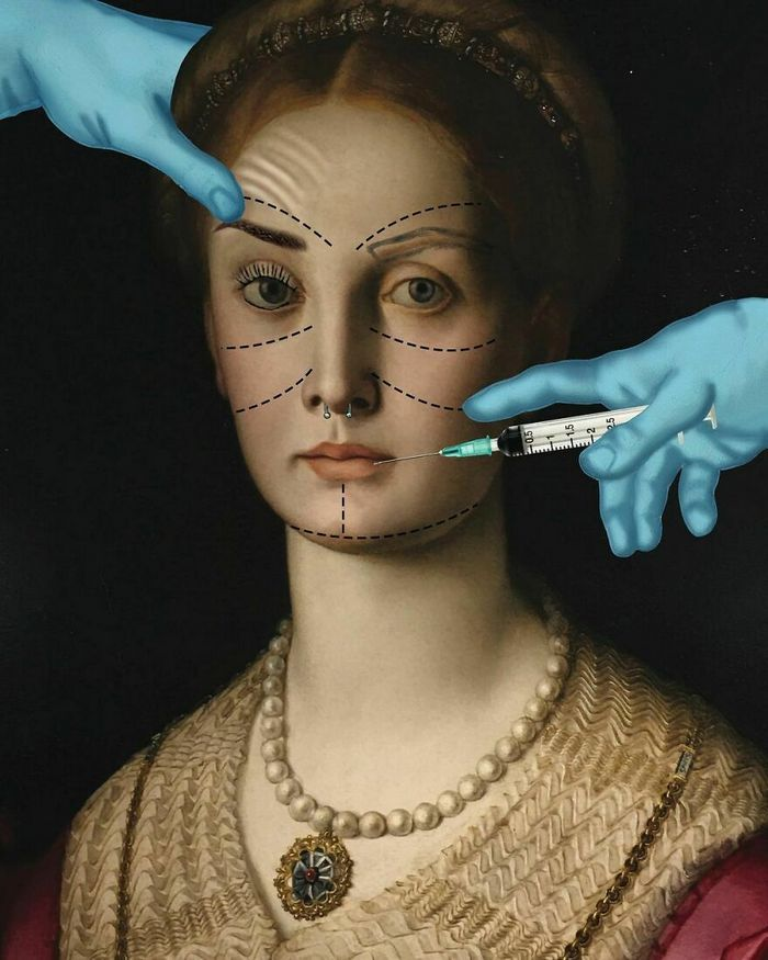 Artista digital reimagina pinturas famosas no contexto atual da tecnologia e mídia social 24