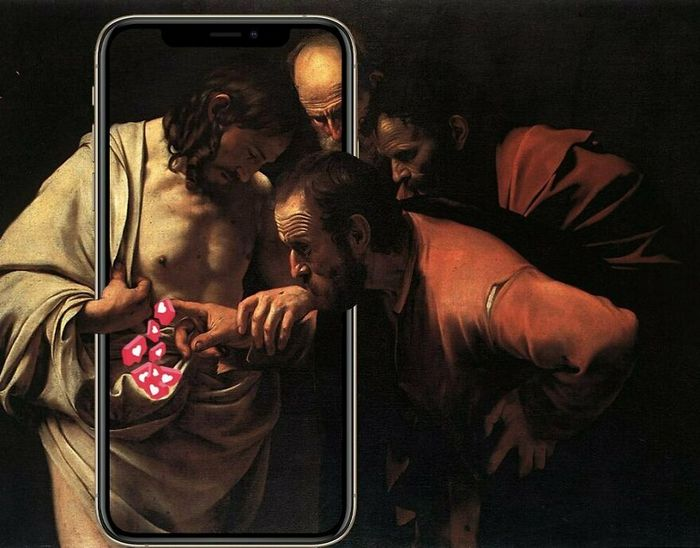 Artista digital reimagina pinturas famosas no contexto atual da tecnologia e mídia social 28