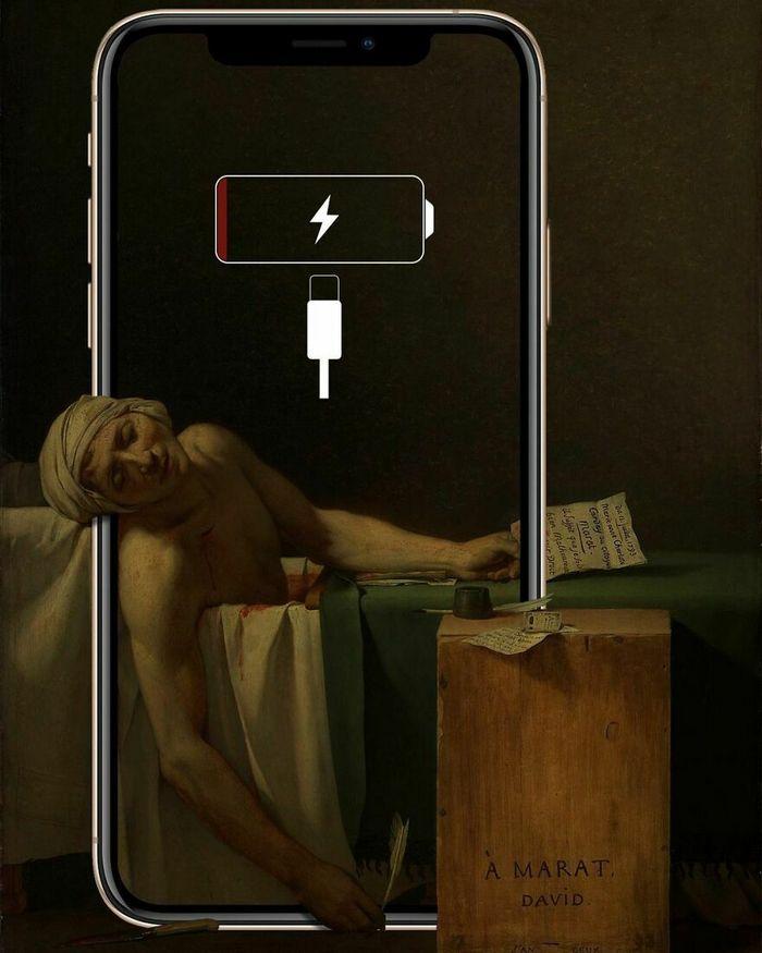 Artista digital reimagina pinturas famosas no contexto atual da tecnologia e mídia social 31