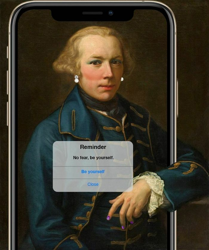 Artista digital reimagina pinturas famosas no contexto atual da tecnologia e mídia social 34