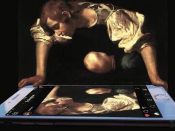 Artista digital reimagina pinturas famosas no contexto atual da tecnologia e mídia social 21