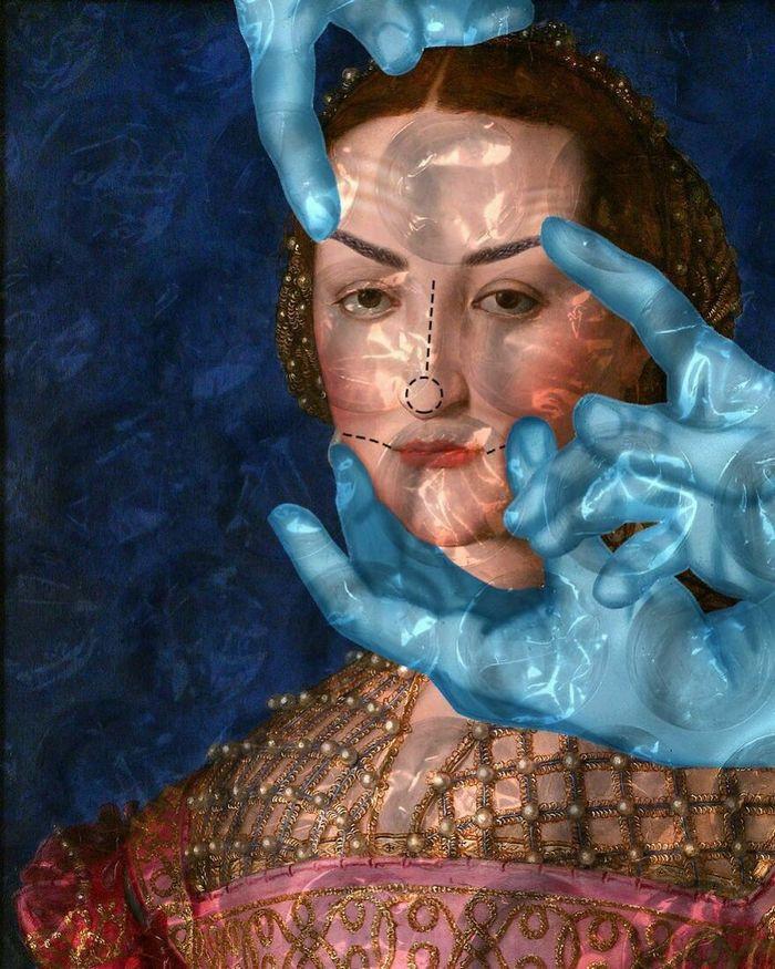 Artista digital reimagina pinturas famosas no contexto atual da tecnologia e mídia social 40