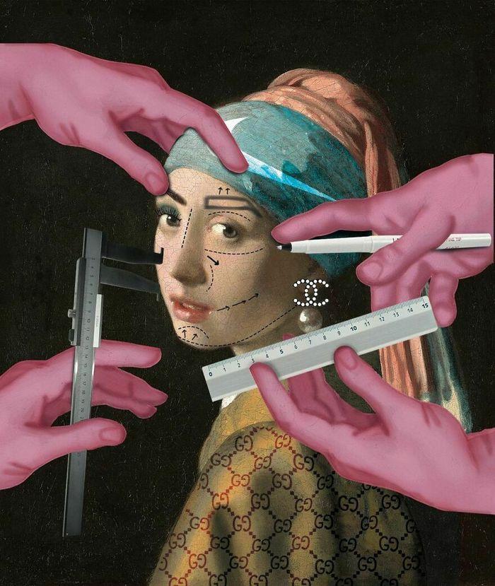 Artista digital reimagina pinturas famosas no contexto atual da tecnologia e mídia social 42