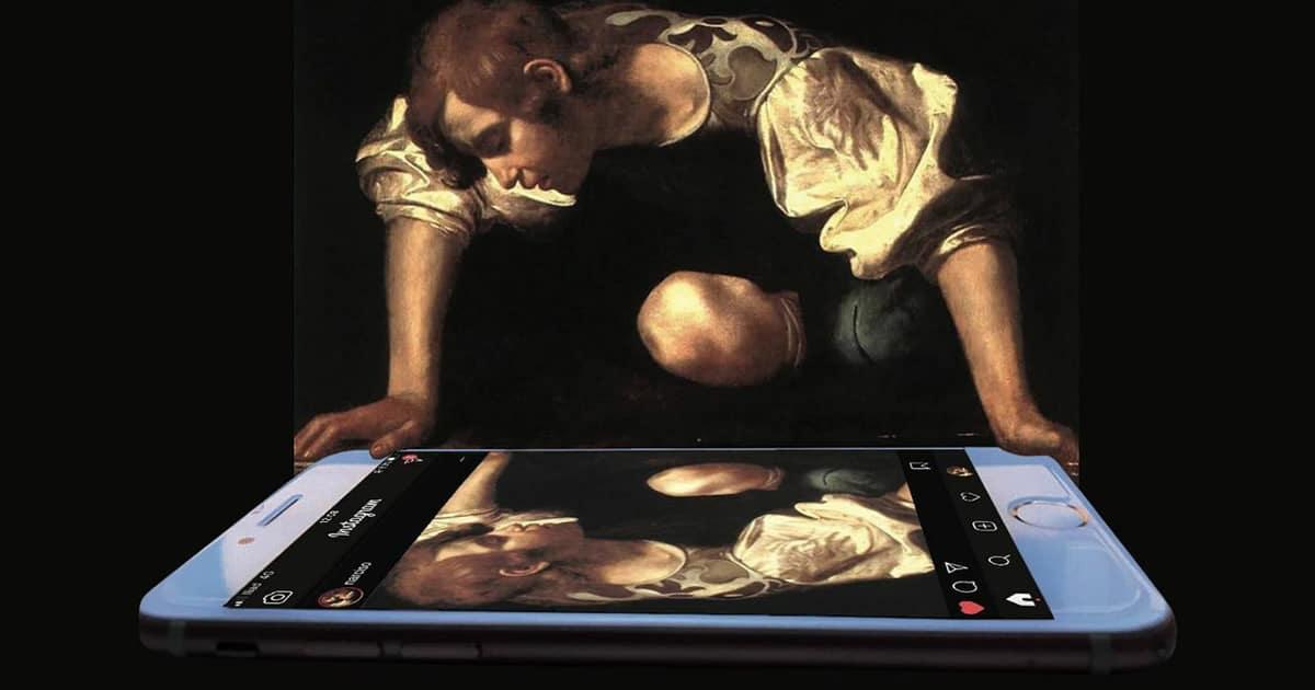 Artista digital reimagina pinturas famosas no contexto atual da tecnologia e mídia social 3