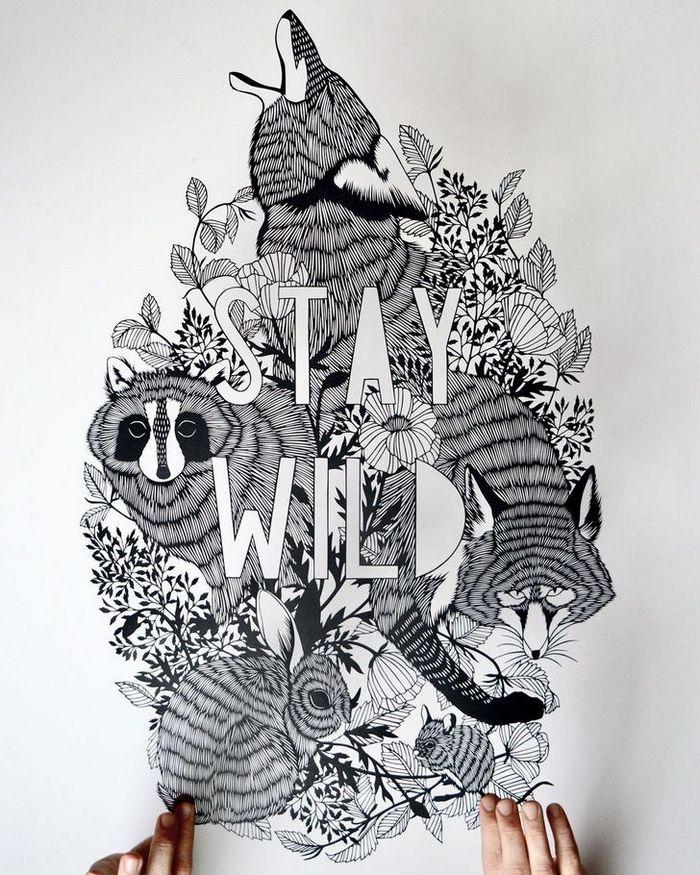 Artista faz obras de artes extremamente complexas com papel e bisturi 3