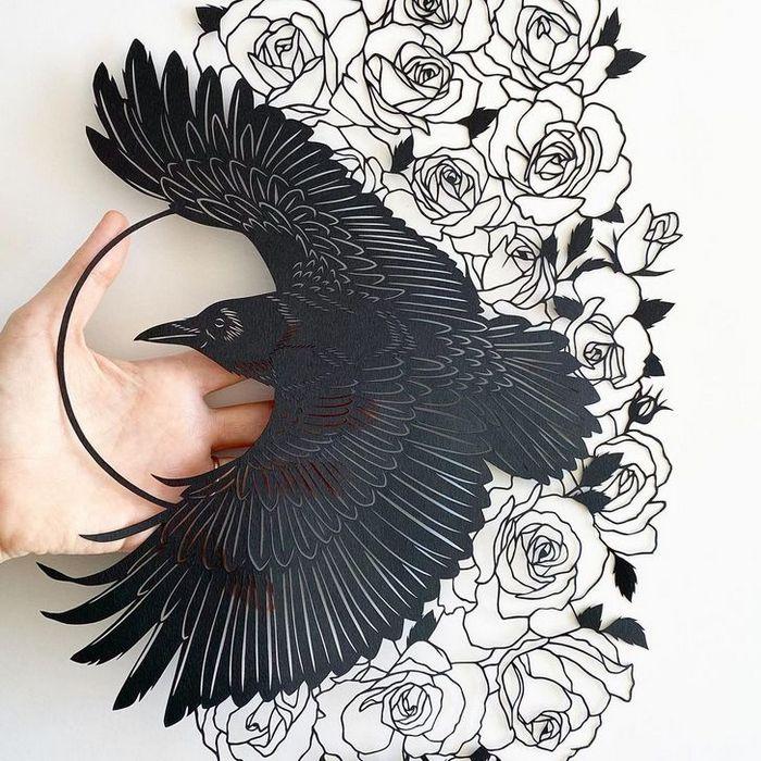 Artista faz obras de artes extremamente complexas com papel e bisturi 4