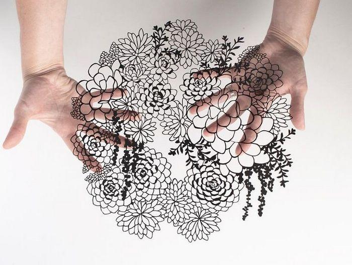 Artista faz obras de artes extremamente complexas com papel e bisturi 5