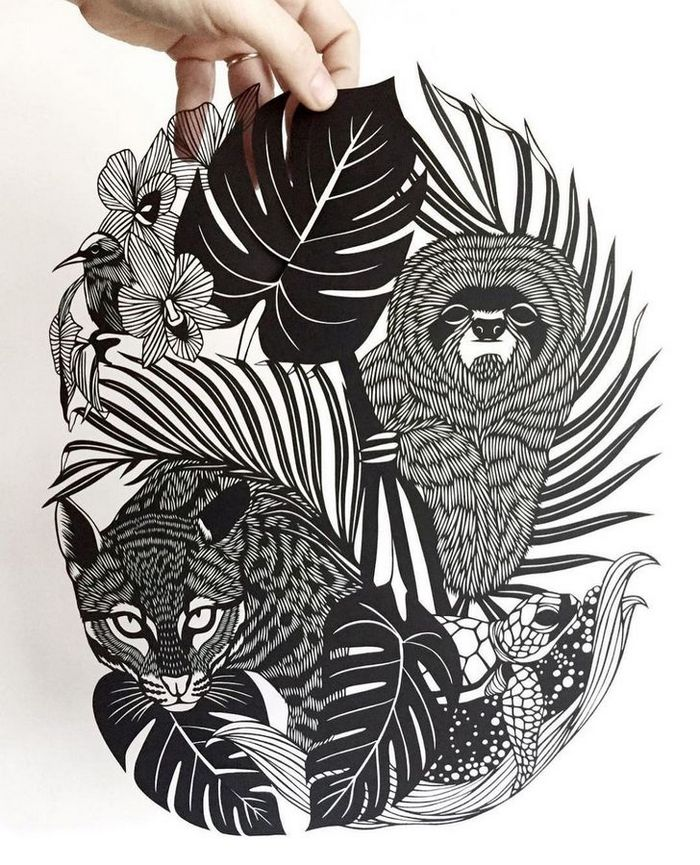Artista faz obras de artes extremamente complexas com papel e bisturi 6