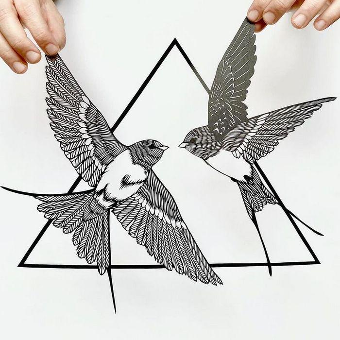Artista faz obras de artes extremamente complexas com papel e bisturi 11