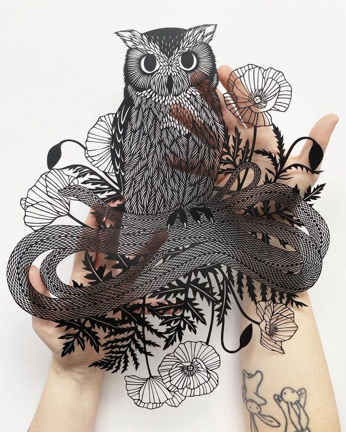 Artista faz obras de artes extremamente complexas com papel e bisturi 16