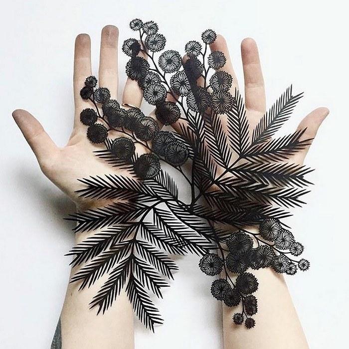 Artista faz obras de artes extremamente complexas com papel e bisturi 18