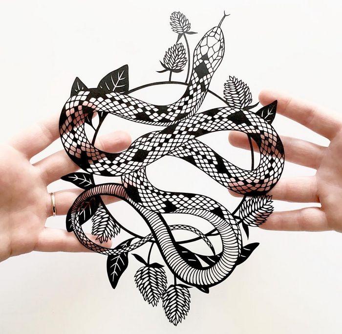 Artista faz obras de artes extremamente complexas com papel e bisturi 19