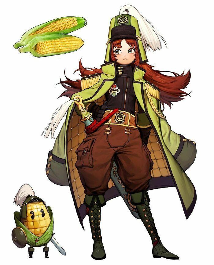 Artista reimagina animais, insetos, objetos do dia a dia e alimentos como personagens de anime 4