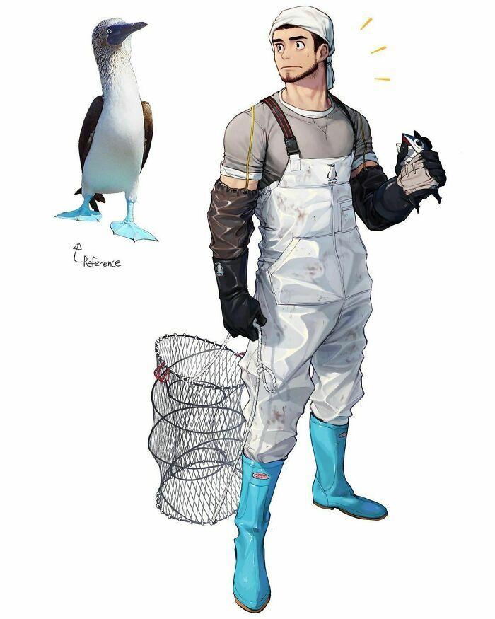 Artista reimagina animais, insetos, objetos do dia a dia e alimentos como personagens de anime 18