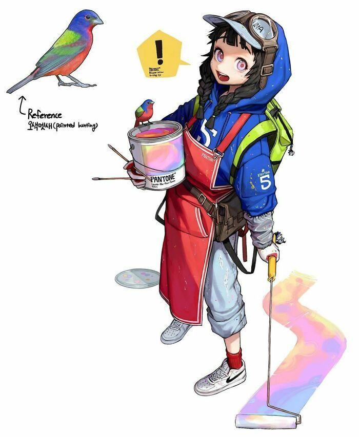 Artista reimagina animais, insetos, objetos do dia a dia e alimentos como personagens de anime 23