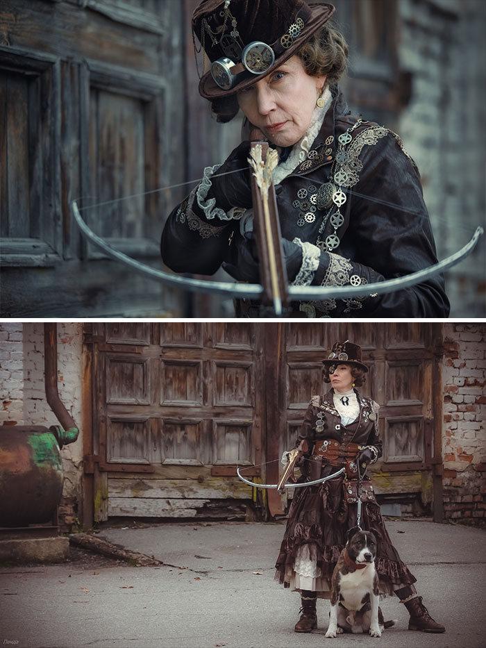 Esta avó russa de 58 anos faz suas próprias fantasias nestes 46 cosplays 4