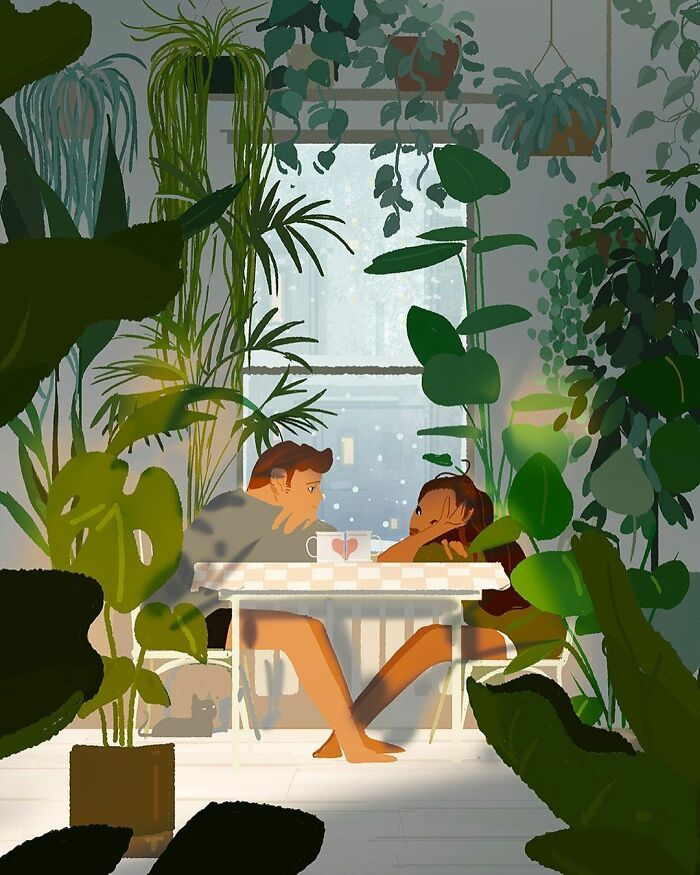 Marido retrata a vida cotidiana com sua esposa e filhos em 54 novas ilustrações comoventes 52