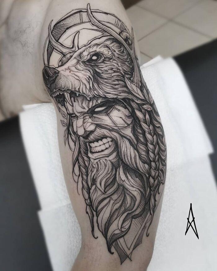 52 melhores tatuagem Viking e Nórdica para você se inspirar 2