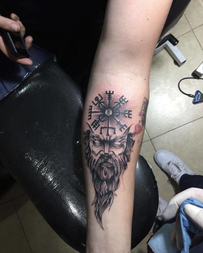 52 melhores tatuagem Viking e Nórdica para você se inspirar 4