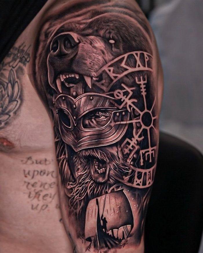 52 melhores tatuagem Viking e Nórdica para você se inspirar 5