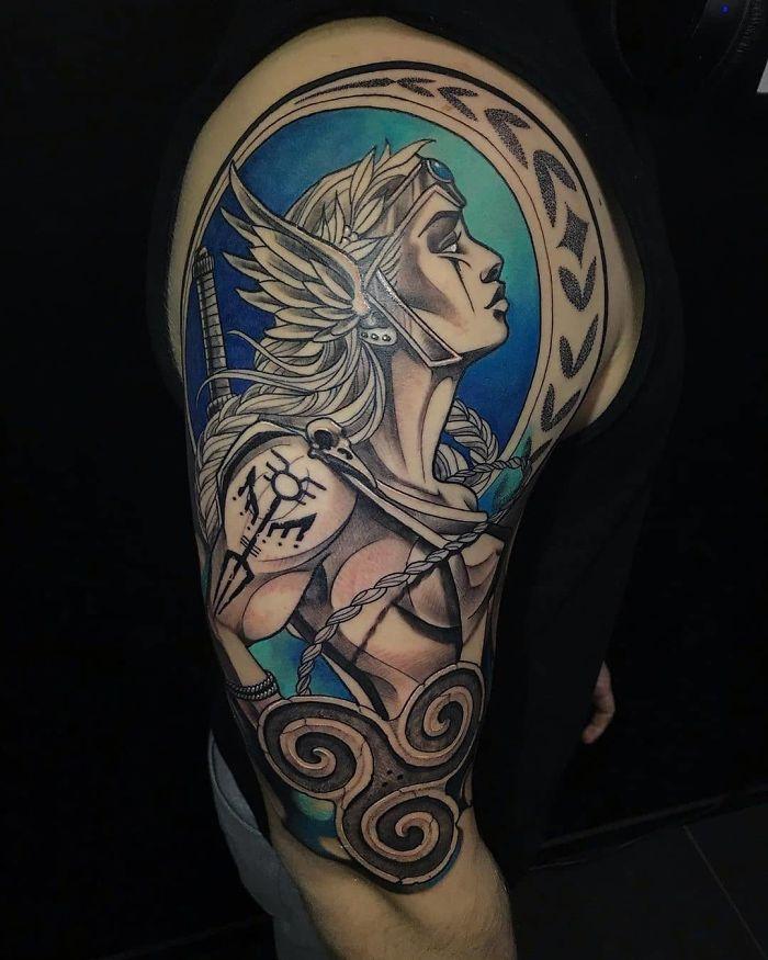 52 melhores tatuagem Viking e Nórdica para você se inspirar 8