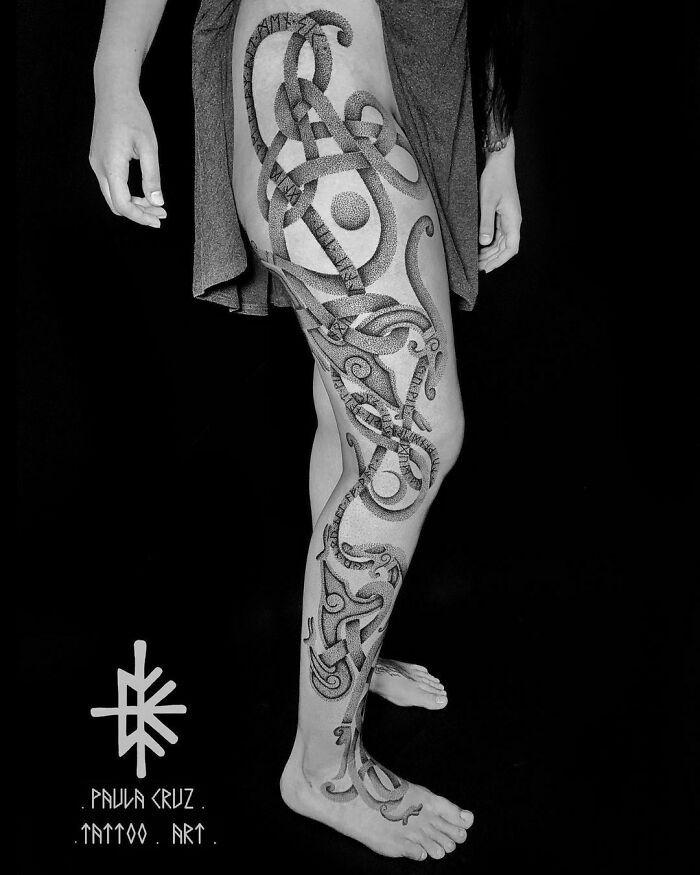 52 melhores tatuagem Viking e Nórdica para você se inspirar 9