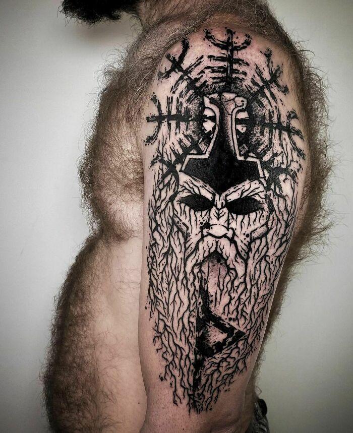 52 melhores tatuagem Viking e Nórdica para você se inspirar 10